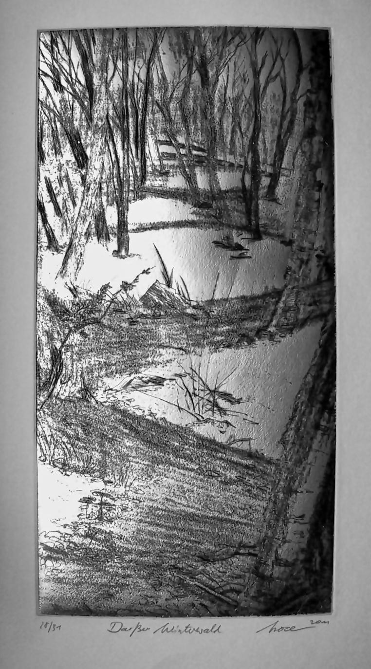61 x 51 Kaltnadelradierung von Horst Zeitler