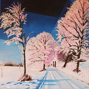 5.1., Winterlandschaft, von der Öl-Malerin Angelika Watteroth aus Teltow, A1