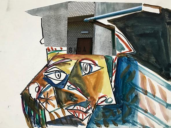 Sadaharu Horio, works on paper, Gutai, japan, Kobe