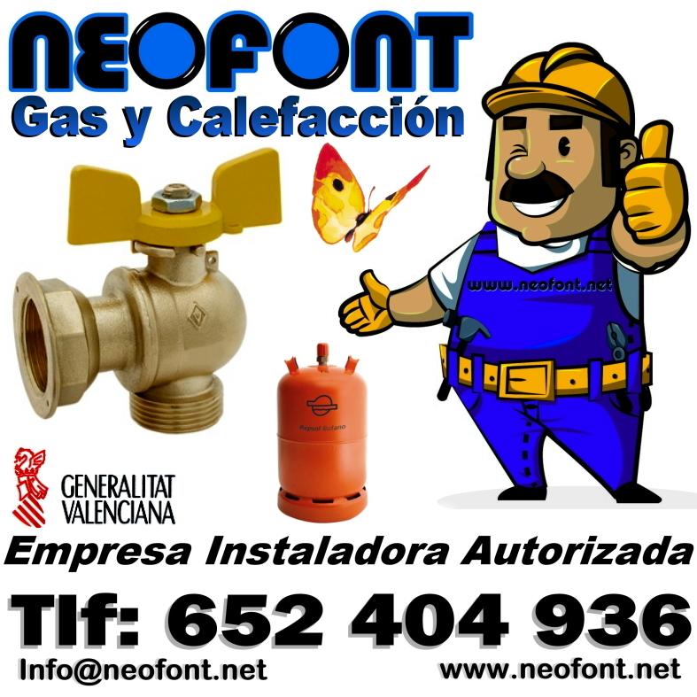 Instalador autorizado de gas neofont alicante elche benidorm for Portal del instalador de gas natural