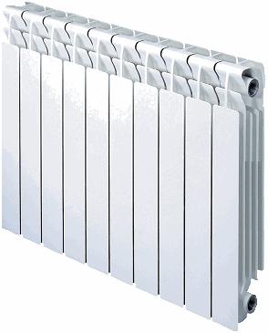 radiador aluminio calefacción elementos