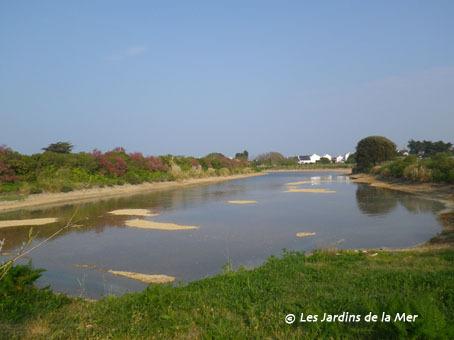 Premier remplissage de la grande lagune à l'occasion de la marée d'équinoxe du samedi 7 avril 2012