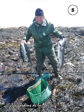 Pris sur le vif le 28 mai en Presqu'île - un pêcheur chanceux et heureux !