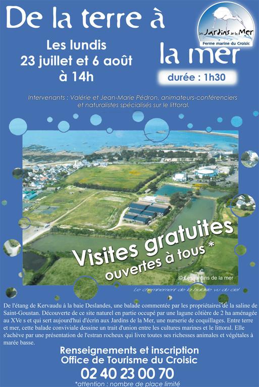Les visites gratuittes pproposées en partenariat avec l'Office de Tourisme du Croisic