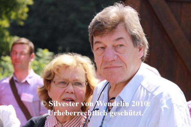 Witta Pohl (Vera Drombusch) und Michael Werlin beim Drombuschs-Fantreffen 2010 in Darmstadt