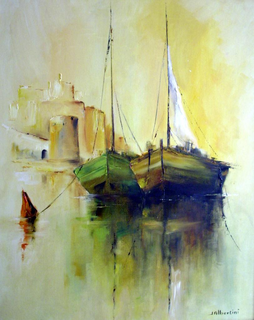 """Barques à Calvi"" - Jacqueline Albertini"