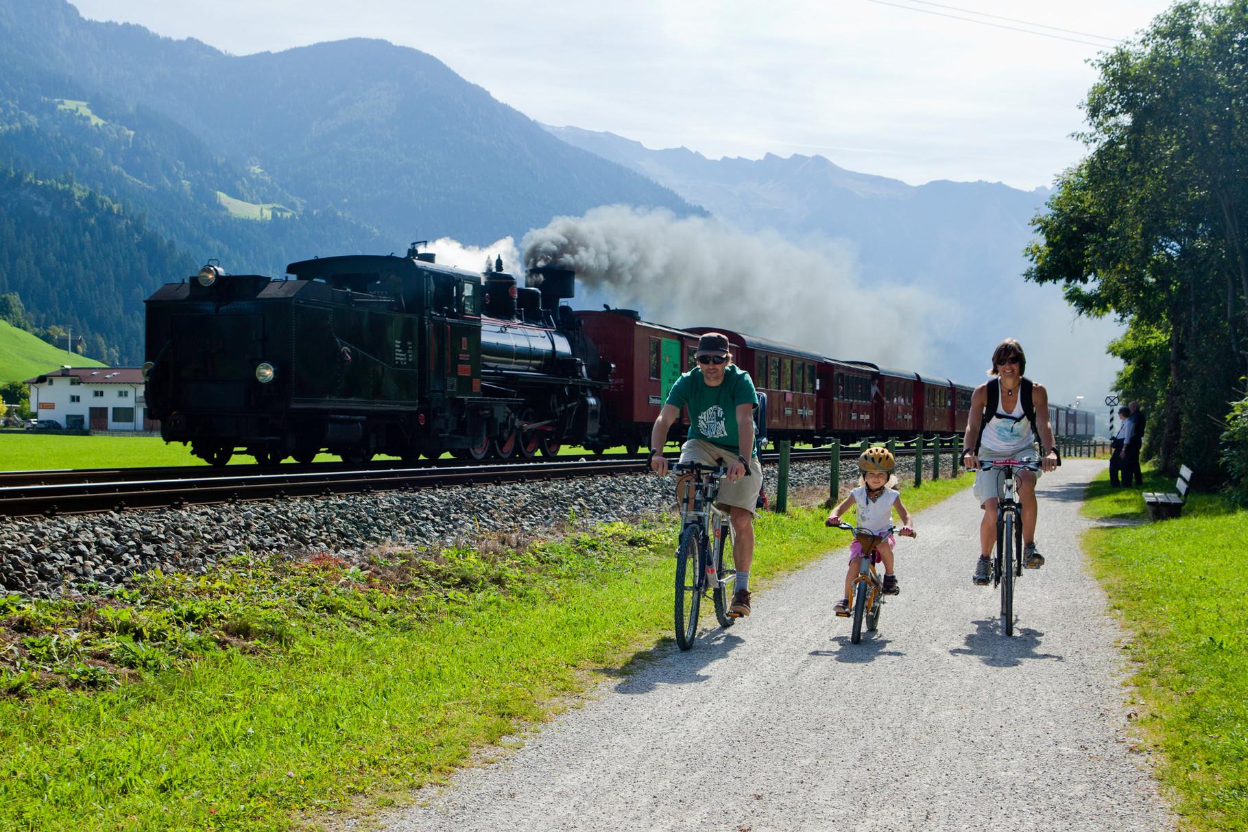 Dampfzug der Zillertalbahn © Zillertal Tourismus GmbH/Schneider