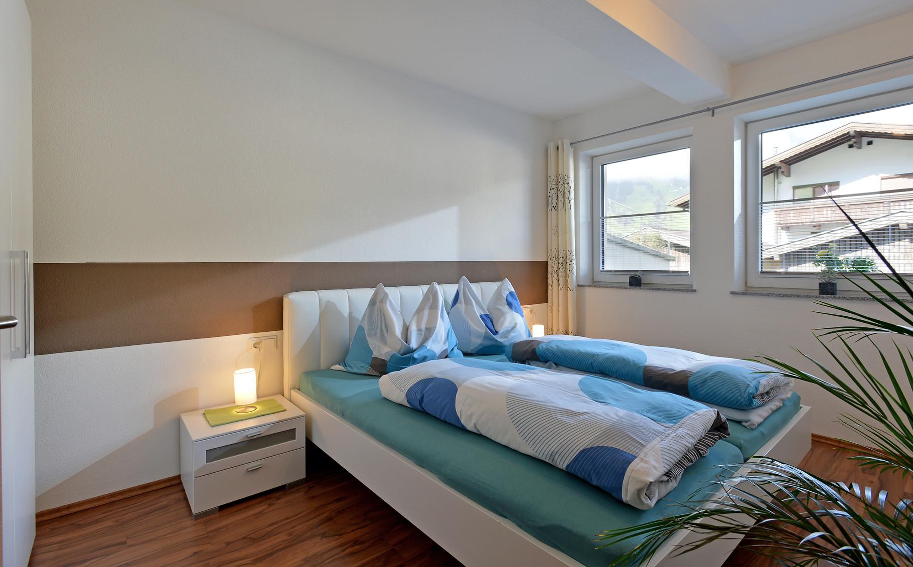Doppelzimmer in unserer Ferienwohnung Horberg - Apart Rauch Ramsau im Zillertal