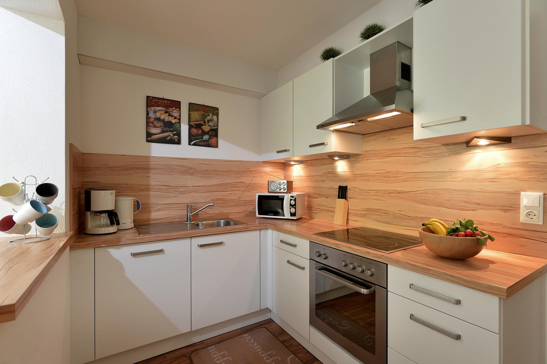 Kochnische mit Geschirrspülmaschine Apartment Sonnalm - Apart Rauch