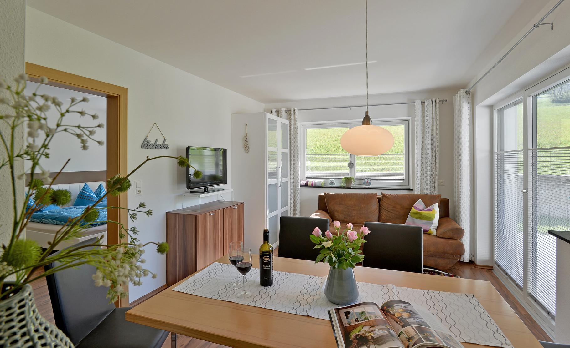 Wohnbereich samt ausziehbarer Schlafcouch für 2 Personen Apart Rauch - Ramsau i. Z.