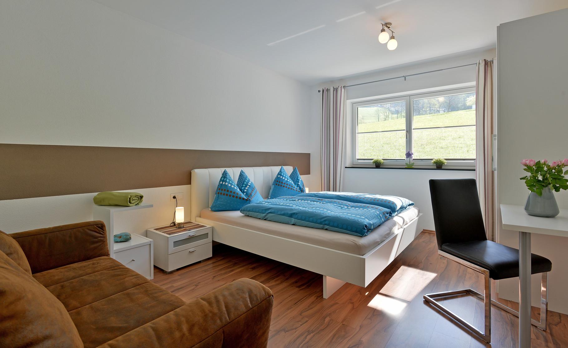 Doppelzimmer und Schlafcouch für 1 Person Apartment Sonnalm - Apart Rauch