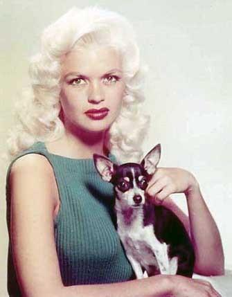 Foto de Jayne con su perro de raza chihuahua de pelo corto bicolor