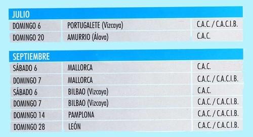 Imagen Real Sociedad Canina de España (R.S.C.E.) Calendario 2014 de julio y septiembre de exposiciones de campeonato de morfologia canina