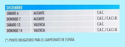 Imagen Real Sociedad Canina de España (R.S.C.E.) Calendario 2014 de diciembre de exposiciones de campeonato de morfologia canina