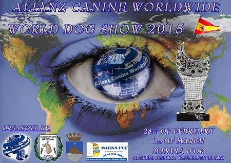 Allianz Canine Worldwide, World Dog Show 2015, se celebra el 28 de febrero de 2015 en Oropesa del mar, Castellon, Comunidad Valenciana, España
