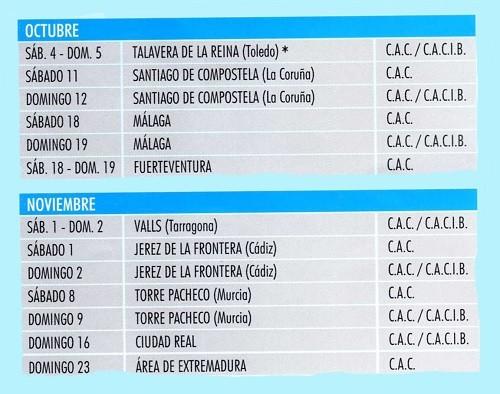 Imagen Real Sociedad Canina de España (R.S.C.E.) Calendario 2014 de exposiciones de octubre y noviembre de campeonato de morfologia canina
