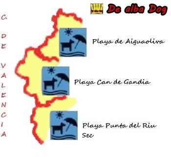 Imagen mapa de Comunidad de Valencia (Alicante, Castellón y Valencia) para ir con perro chihuahua