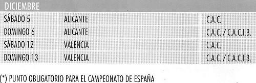 Imagen Real Sociedad Canina de España (R.S.C.E.) Calendario 2015 de diciembre de exposiciones de campeonato de morfologia canina