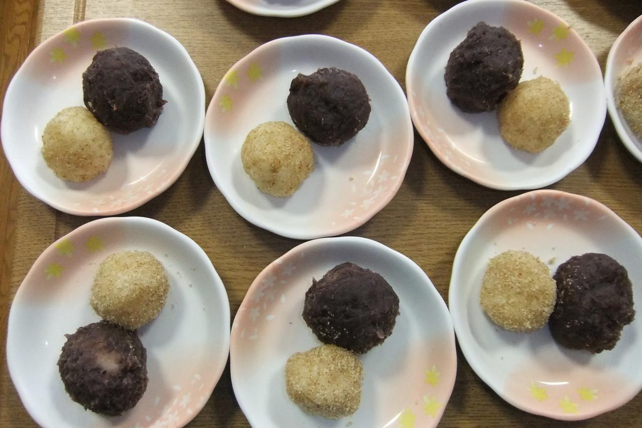 地元で愛される定番和菓子 『おはぎ』の完成です!