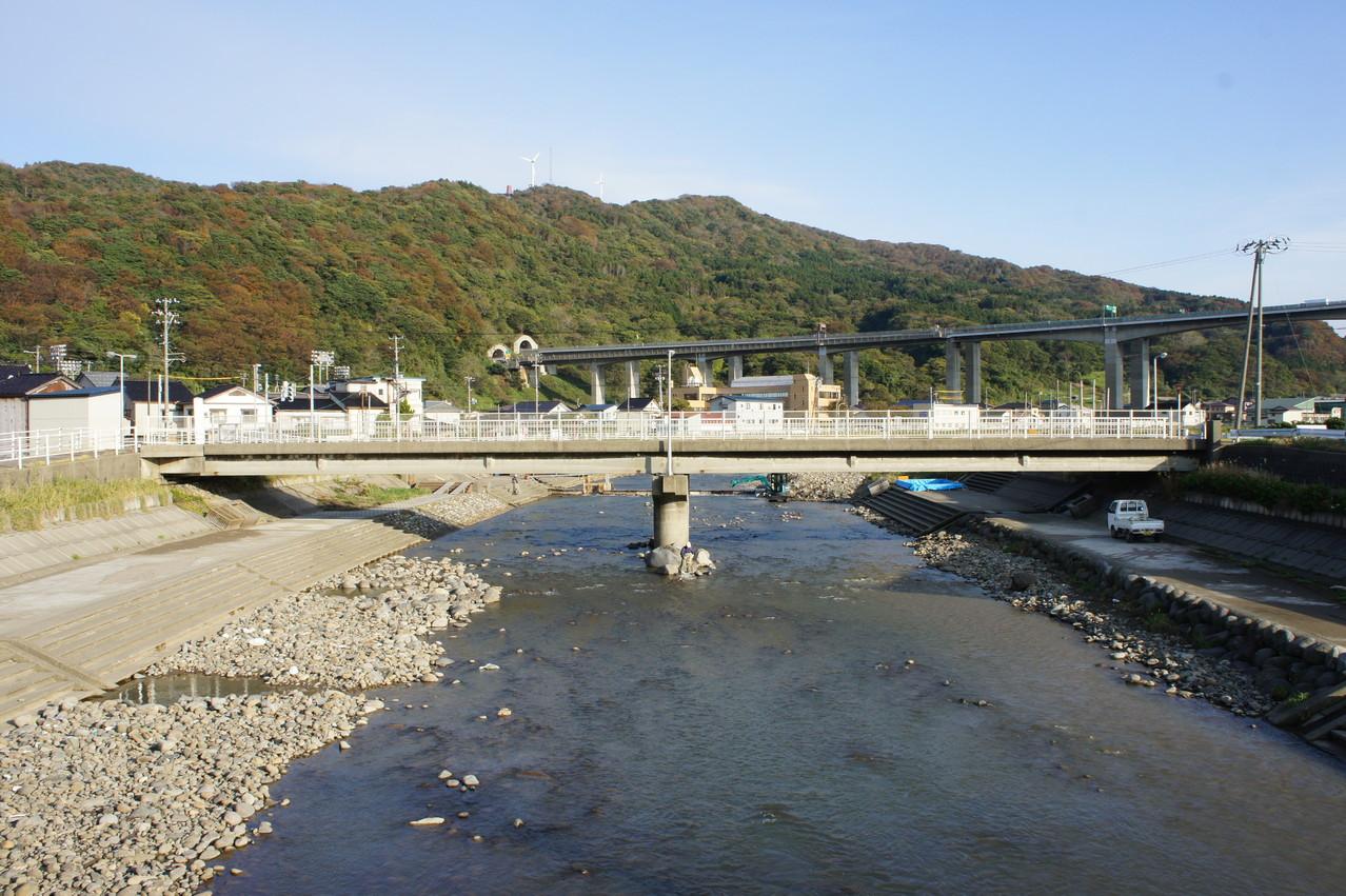 故郷、名立川に帰ってきました