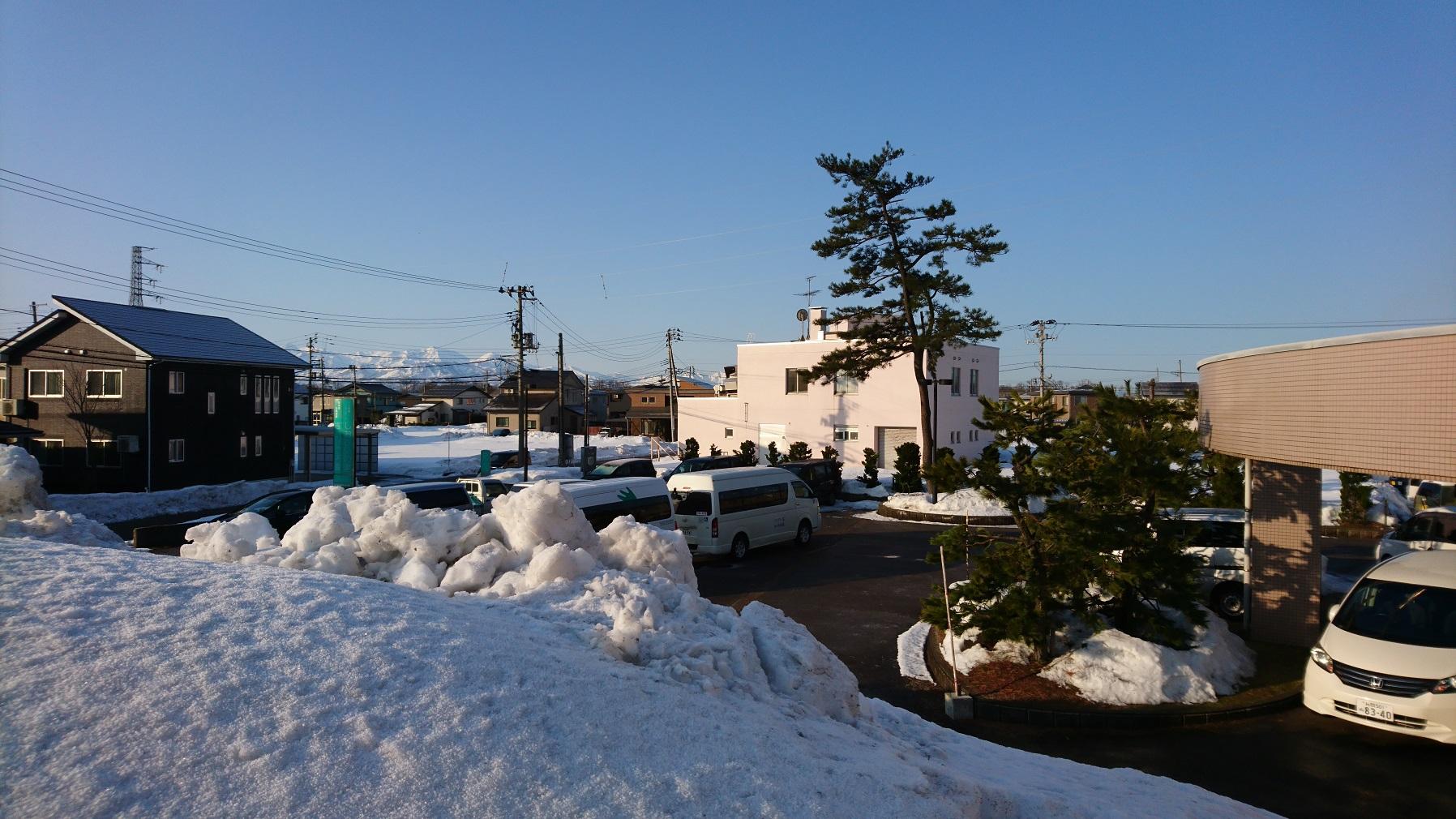 標高5mの雪山からの景色。とても新鮮でした。