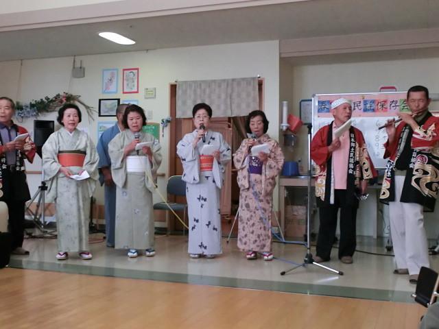 地域の伝統芸能を継承する「春日山民謡研究会」の皆さん。貴重な機会をありがとうございました
