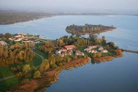 Vue aérienne du lac de Madine