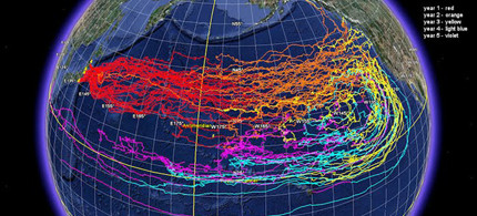NOAA has run a numeric model for ocean surface currents to predict the movement of marine debris generated by the Japan tsunami over five years. The model measures the movement of surface currents, as well as the movement of what is in or on the water, 03