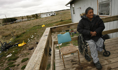 Many US Native Americans live in federally recognised tribal areas plagued with poverty, alcoholism other social problems. Photograph: Jennifer Brown/Corbis