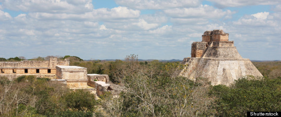 This undated image shows the Uxmal Mayan ruins. New research suggests trade patterns in Maya history could have played key role in Maya collapse.
