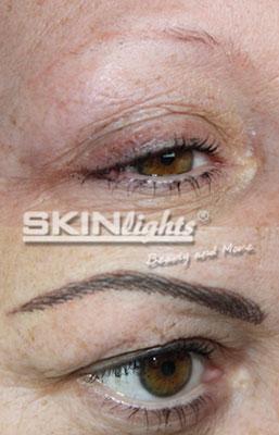Permanent Make-up Augenbraue vorher / nachher / © katja junius - skinlights.de