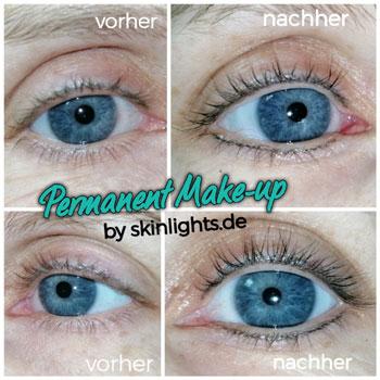 Permanent Make-up Wimpernkranzverdichtung am Oberlid und Unterlid pigmentiert  / © katja junius - skinlights.de