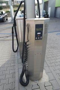 Der Luftdruckprüfer im Cleanpark Weissach