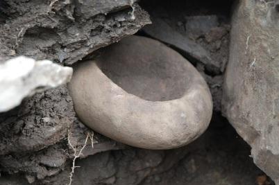 Steinschüssel im Thrumster Broch in Caithness (Schottland) / © Yarrows Heritage Trust