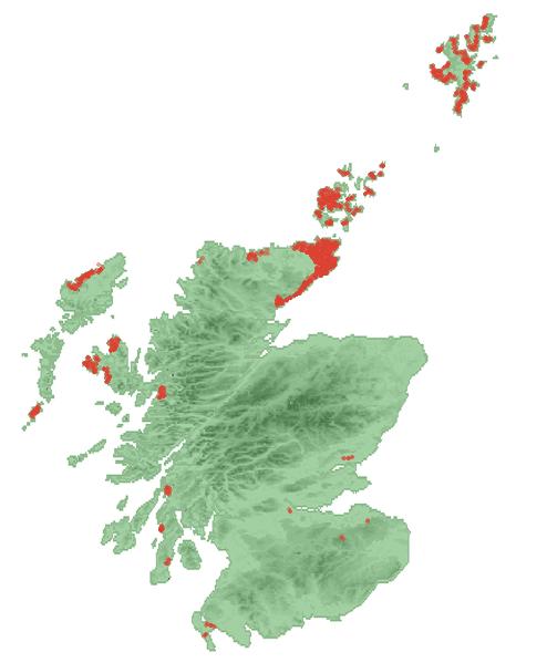 Geographische Verteilung von Brochs in Schottland / © Bubobubo2 – Wikimedia Commons