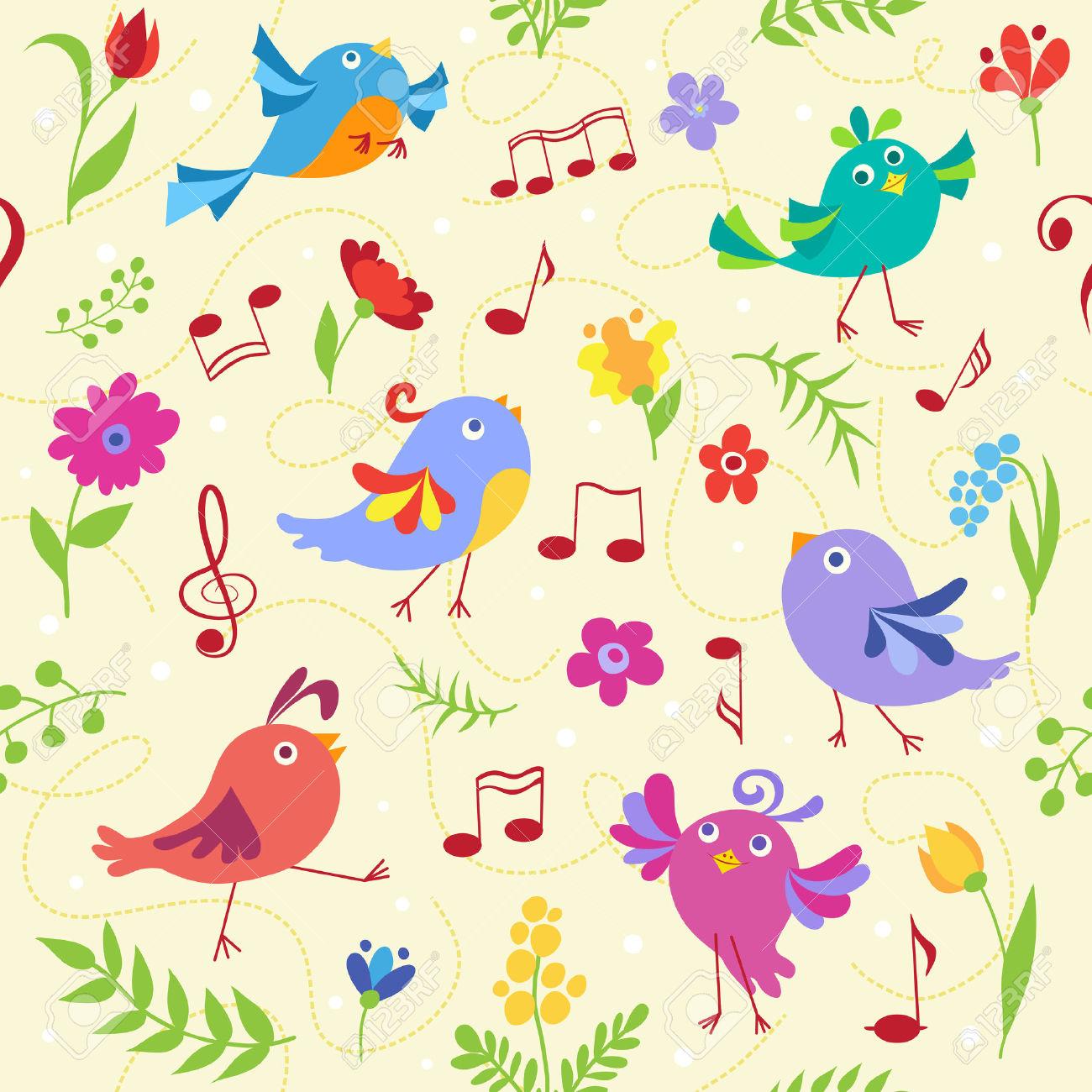 Веселые нотки птички картинки для детей, день