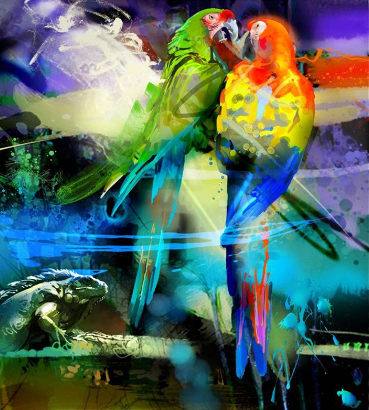 ¡Obras llenas de color!