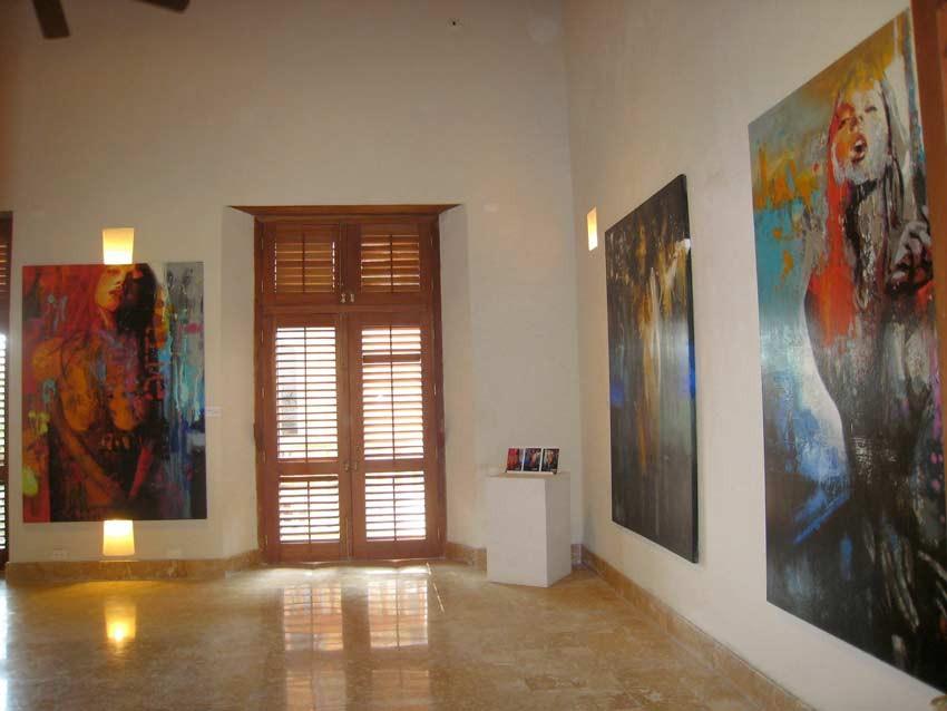 """Gran Salón Casa San Agustin Exposición """"Mis Mujeres"""" Rafael Espitia"""