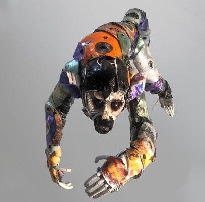 Serie Monos / Esculturas hechas con CDs reciclado / Disponible
