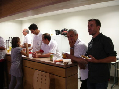 Fabien, Sébastien et Fausto assurent le service avec brio