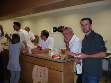 Le coup de fatigue passé, el Presidente retrouve le sourire et Christophe l'appétit