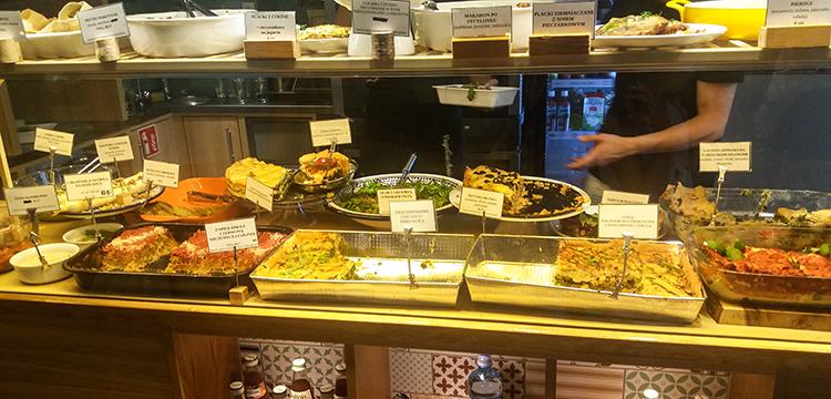 Auswahl an frisch gekochten Gerichten
