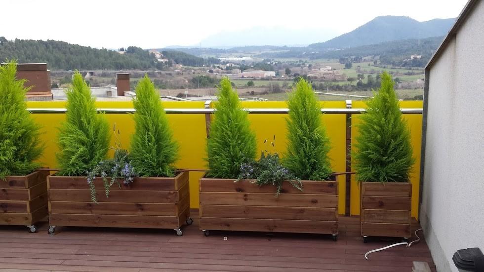 Fotos de los clientes jardineras de madera - Jardineras con ruedas ...