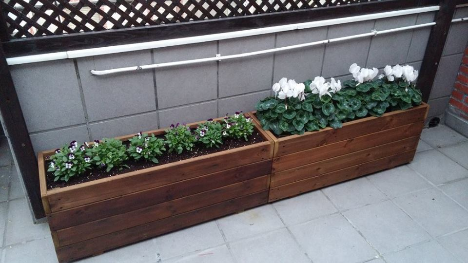 Jardineras al Autoclave 100x30x40 altura