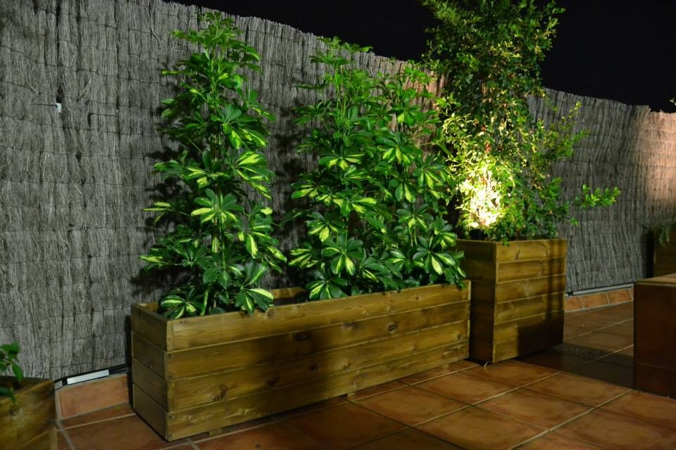 Jardineras al Autoclave 150x30x40 altura + 50x50x60 altura
