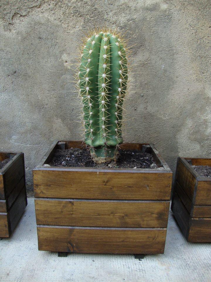 Macetas de madera jardineras de madera - Jardineras de madera caseras ...