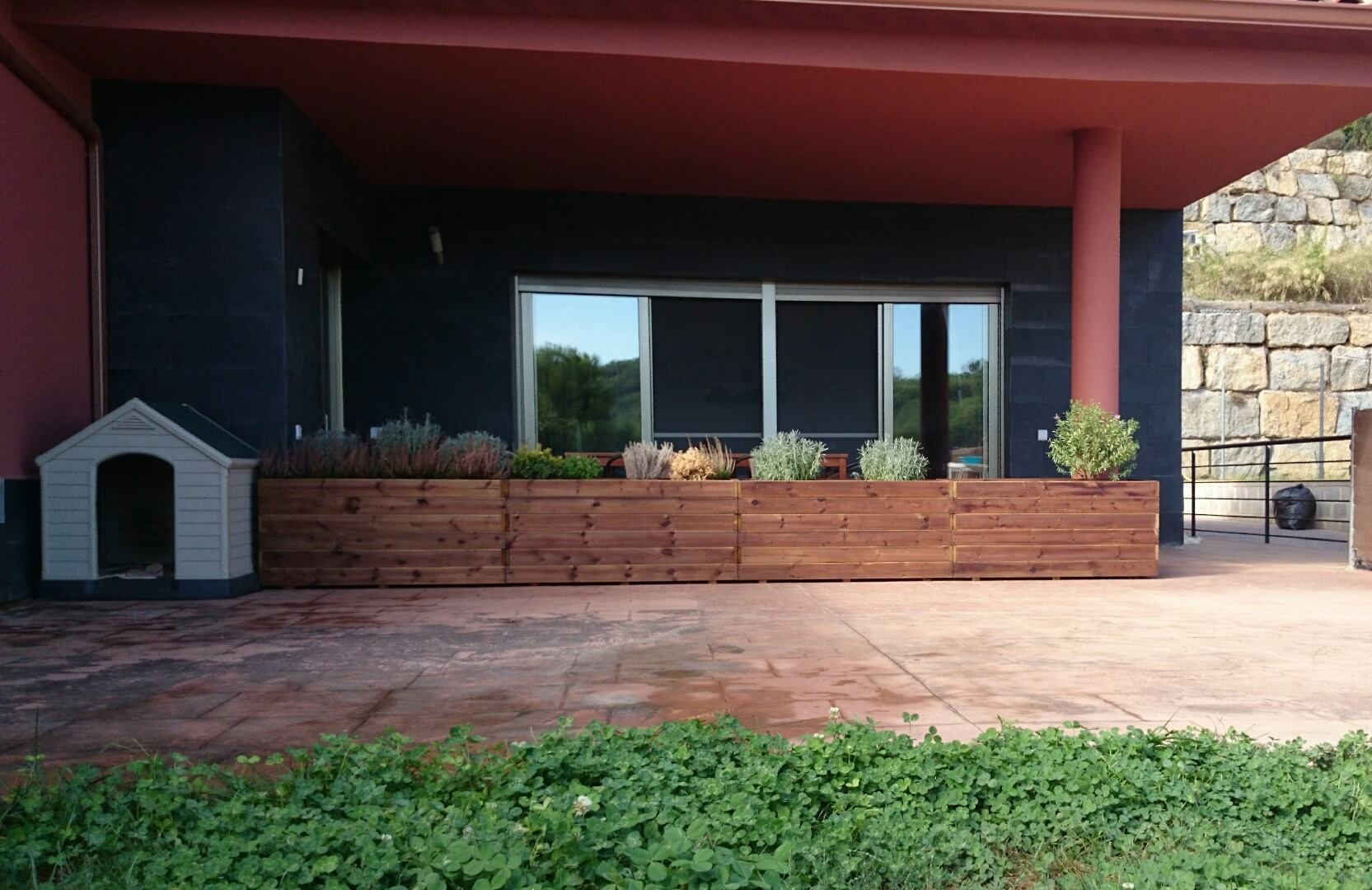 Jardineras al Autoclave 4 de 120x40x50 altura