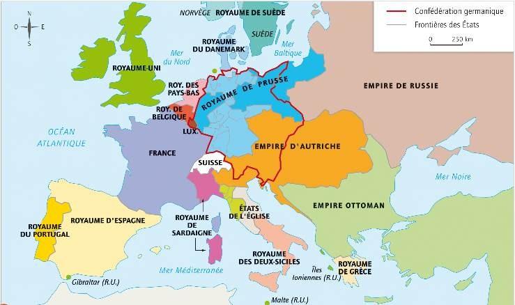 carte europe en 1914