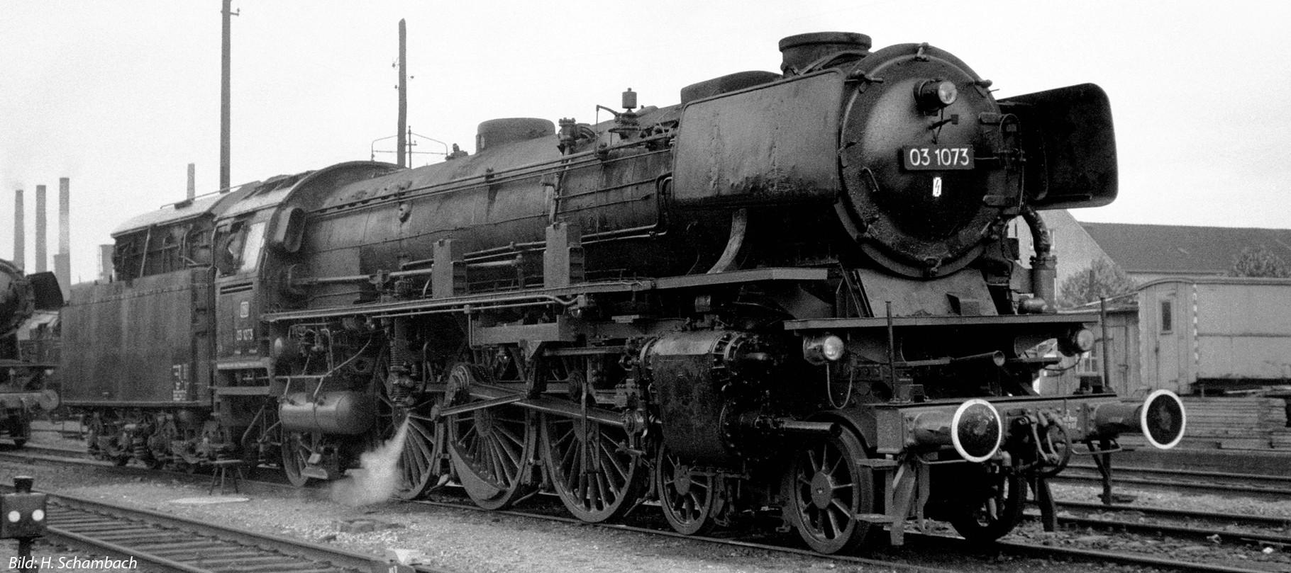Vorlage Baureihe 03.1073 DB mit Neubaukessel