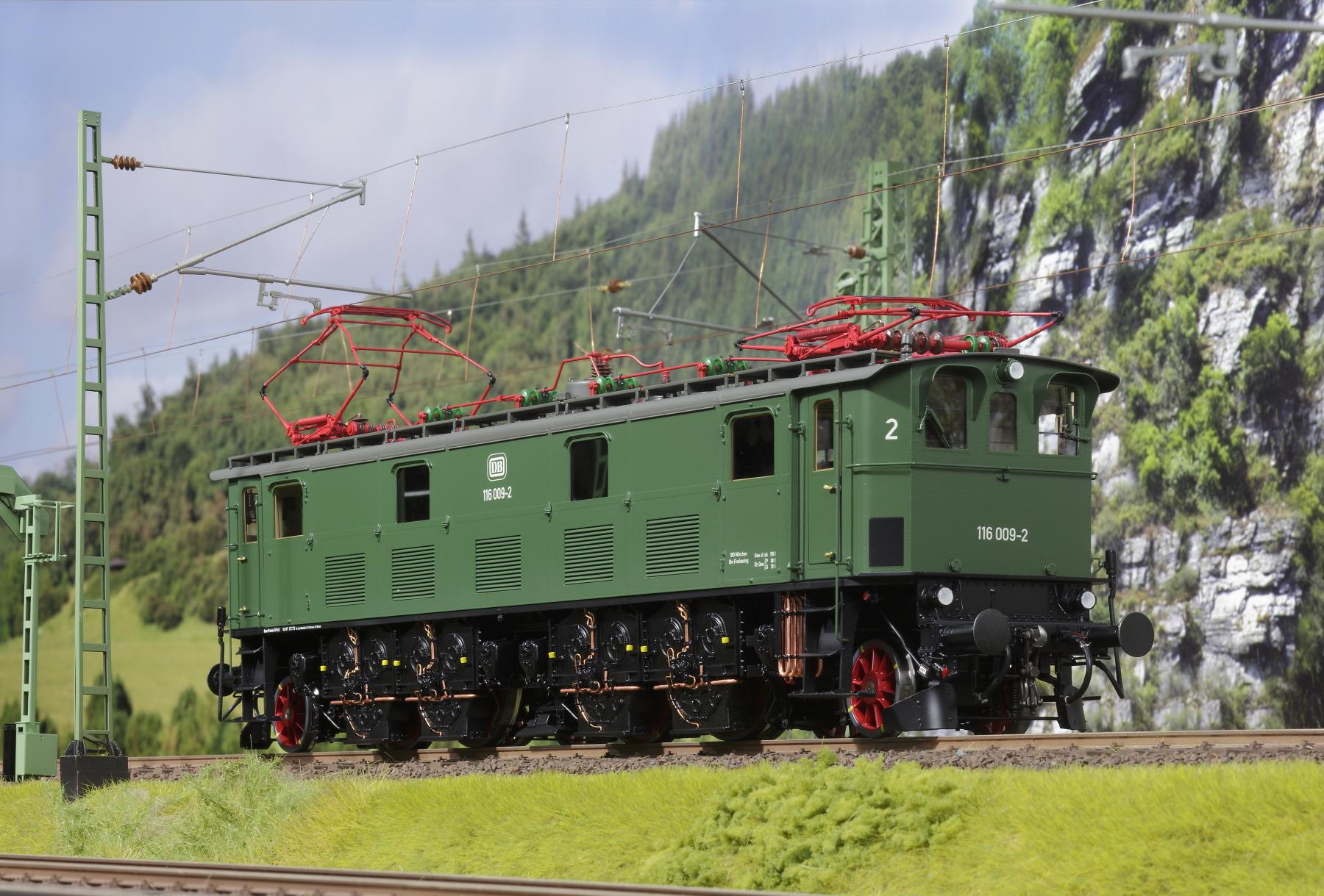 Spur 1 Lokomotive Baureihe E 116 009-2 Epoche IV chromoxidgrün